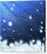 Snow In The Wind Acrylic Print