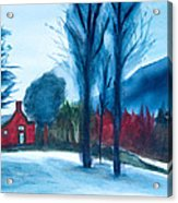 Snow In Vermont Acrylic Print