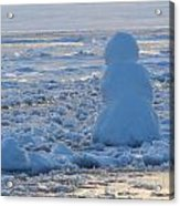 Snow-Lady Watching the Sunset Acrylic Print