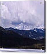 Snow Lake And Mountains Acrylic Print