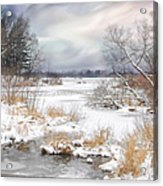 Snow Lake Acrylic Print