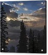 Snow Lake Sunset Acrylic Print