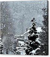 Snow Landscape Acrylic Print