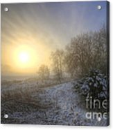 Snow Landscape Sunrise Acrylic Print