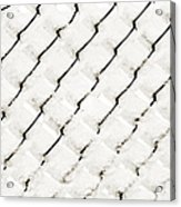 Snow Link Fence Acrylic Print by Andee Design