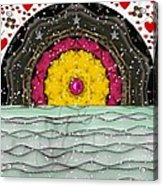 Snow Love Pop Art Acrylic Print