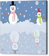 Snow Man Acrylic Print