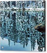 Snow Mirror Acrylic Print