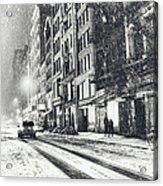 Snow - New York City - Winter Night Acrylic Print