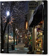 Snow On G Street 3 - Old Town Grants Pass Acrylic Print