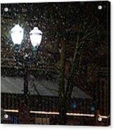 Snow On G Street In Grants Pass - Christmas Acrylic Print