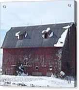Snow On Roof Acrylic Print