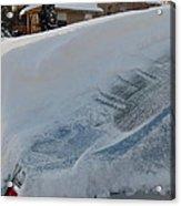Snow On The Car Acrylic Print
