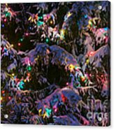 Snow On The Christmas Tree Acrylic Print