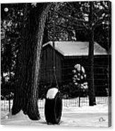 Snow On Tire Swing Acrylic Print