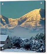 Snow On Utah Mountains Acrylic Print