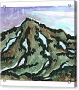 Snow Patches Acrylic Print
