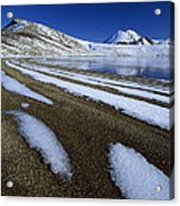 Snow Patterns Near Blue Lake Mt Acrylic Print