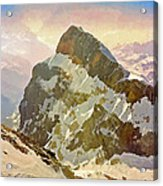 Snow Peaks Of Mount Titlis Acrylic Print