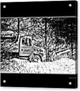Snow Plow In Black And White Acrylic Print