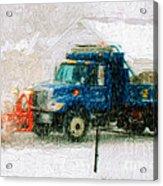 Snow Plow Painterly Acrylic Print