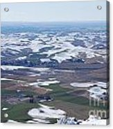 Snow Remnants On The Palouse Acrylic Print