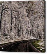 Snow Road Acrylic Print