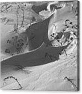 Snow Scroll Acrylic Print