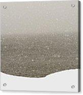 Snow Sea Sky Acrylic Print