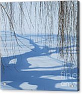 Snow Shadows I Acrylic Print