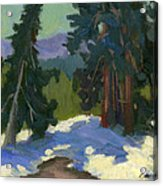 Snow Shadows Mammoth Mountain Acrylic Print