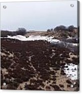 Snow Spotted Dunes Acrylic Print