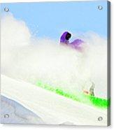 Snow Spray Acrylic Print by Theresa Tahara