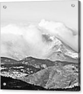 Snow Storm On The Twin Peaks Longs And Meeker Acrylic Print