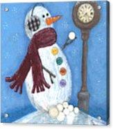 Snow Time Acrylic Print