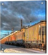 Snow Train Acrylic Print