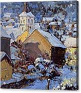 Snow Village Acrylic Print