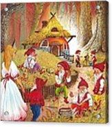 Snow White And The Seven Dwarfs Acrylic Print