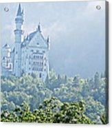 Snow White's Palace In Morning Mist Acrylic Print