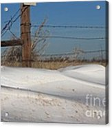 Snowbank On A Country Road Acrylic Print by Robert D  Brozek