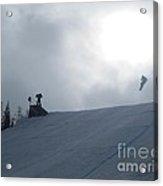 Snowboard Slopestyle Competiton Acrylic Print