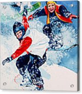 Snowboard Super Heroes Acrylic Print