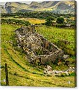 Snowdon Ruin Acrylic Print