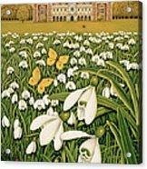 Snowdrop Day, Hatfield House Acrylic Print