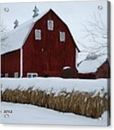 Snowed In Barn Acrylic Print