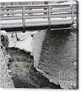 Snowfall Bridge Acrylic Print