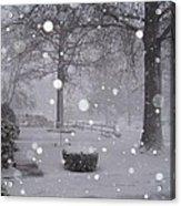 Snowfall On Ayers Acrylic Print
