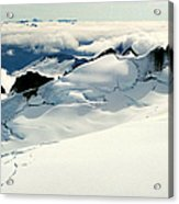 Snowfield Below Acrylic Print