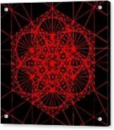Snowflake Shape Comes From Frequency And Mass Acrylic Print by Jason Padgett
