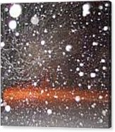 Snowflakes And Orbs Acrylic Print